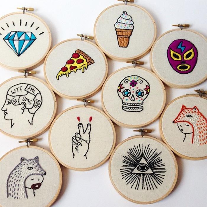Stitchyouup: Yasemin's feed is full of fun #embroidery that echoes that crossover between the worlds of embroidery and tattoo. I really like her hoop art - a gallery wall of these would look amazing.