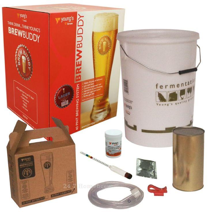 Brew Buddy Lager 40 Pints Home Brew Starter Kit: Amazon.co.uk: Kitchen & Home