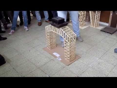 Ensayo De la primera Estructura a escala elaborado con Palitos de Helado - YouTube