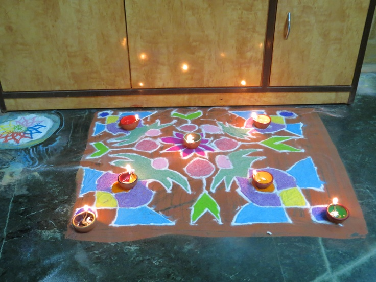 rangoli made on second day