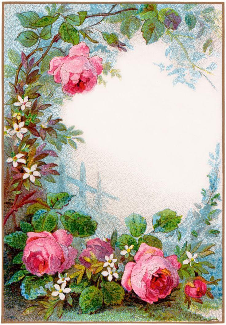Vintage Flowers Clip Art Borders | quinta-feira, 10 de maio de 2012