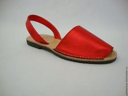 Обувь ручной работы. Ярмарка Мастеров - ручная работа. Купить Шикарные красные сандалии Аваркас 35,,41. Handmade. из испании