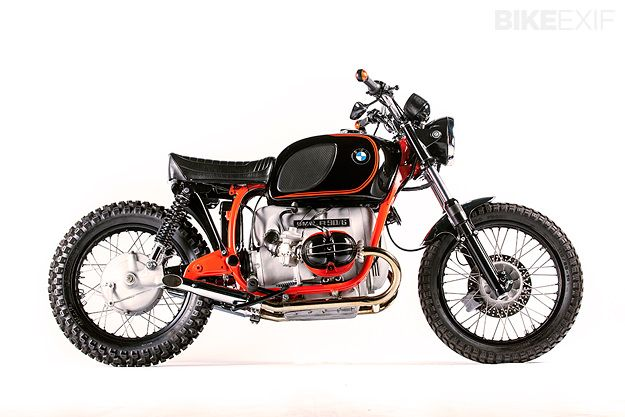 This BMW R90 was beyond repair when Donovan Muller got his hands on it. But he's turned it into a stunning 'custom classic,' complete with Police seat.