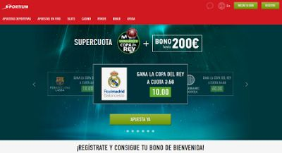 el forero jrvm y todos los bonos de deportes: Supercuota hasta 60 sportium copa rey baloncesto +...