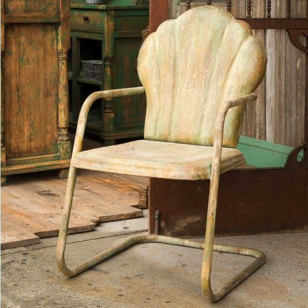 vintage style metal patio chair