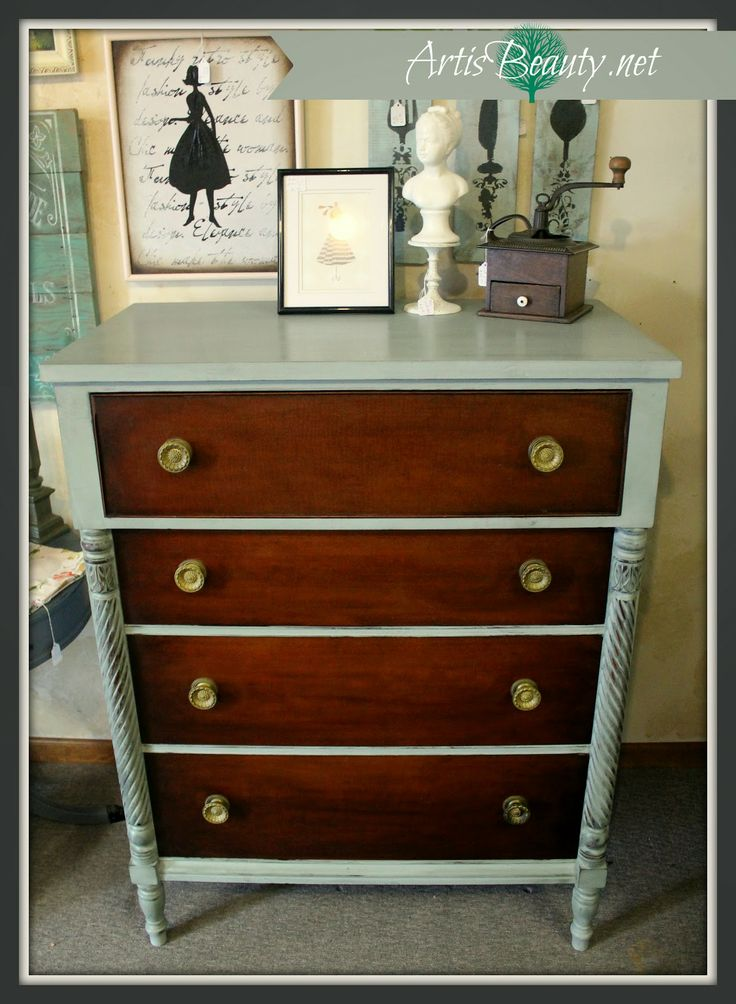 Antique Kindel Grand Rapids Chest Of Drawers Makeover Art