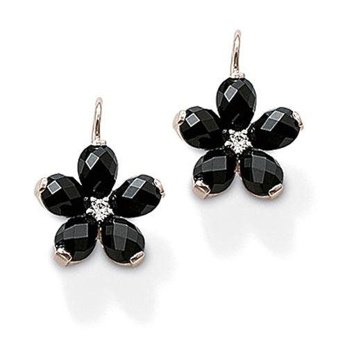 THOMAS SABO Black Swan-neck earrings