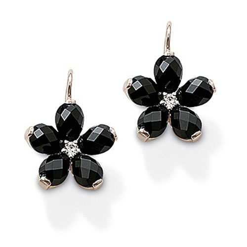 THOMAS SABO Black Swan-neck earrings