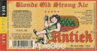 Label van Blonde Old Strong Ale Antiek