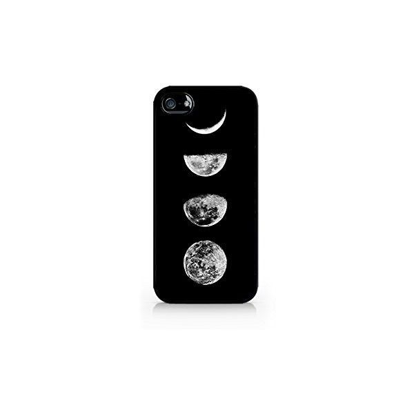 Moon Phases Lunar Phases Hipster Moon Phases iPhone 4/4S Black Case (2.50 CAD) ❤ liked on Polyvore featuring accessories, tech accessories, phone cases, phone, celular, iphone case, iphone cover case, apple iphone case, iphone cell phone cases and iphone smartphone