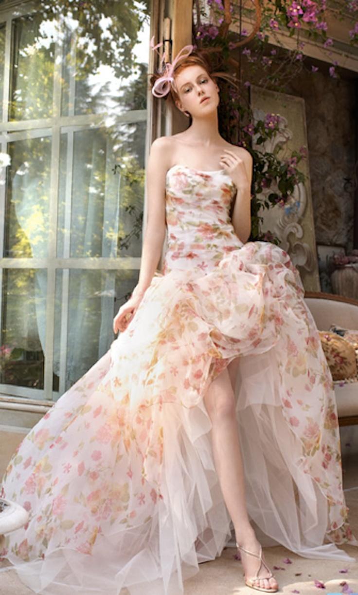 Floral print wedding dresses   best DRESSES  JUST FLAUNT it  images on Pinterest  Cute