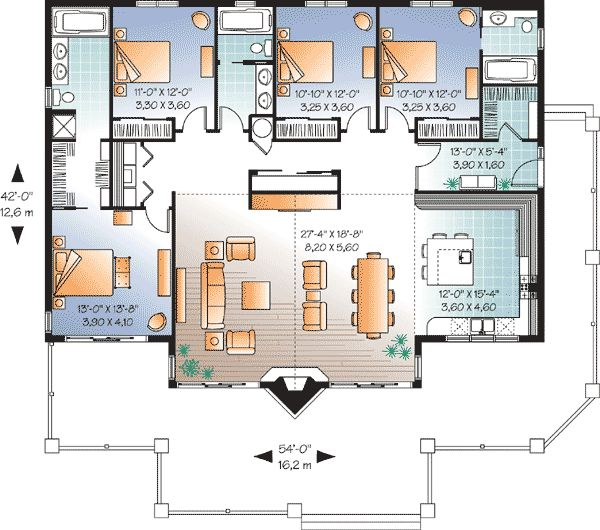 Plan 21747DR: Four Bedroom Vacation Home Plan