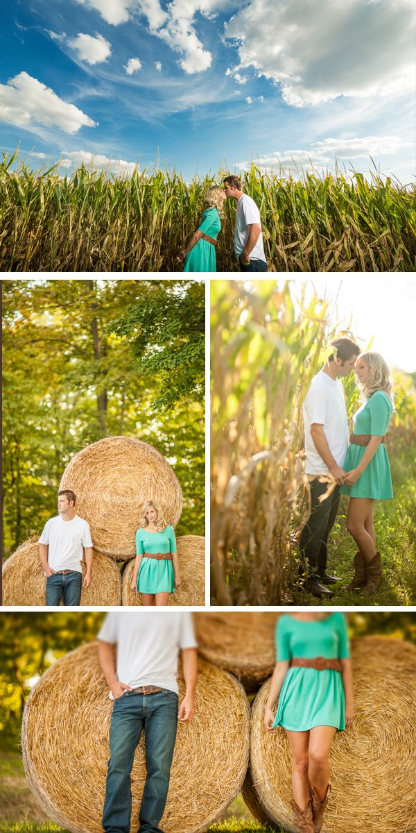 INSPIRATIONAL; Courtney and Jerry are engaged! romantic fall engagement on an ohio farm   ben & les photography