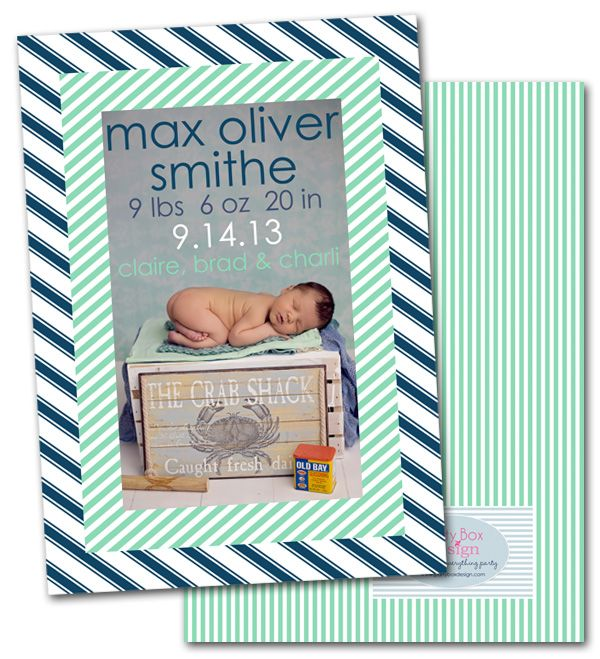 mint green, baby announcement, birth announcements, new baby, party box design, modern baby