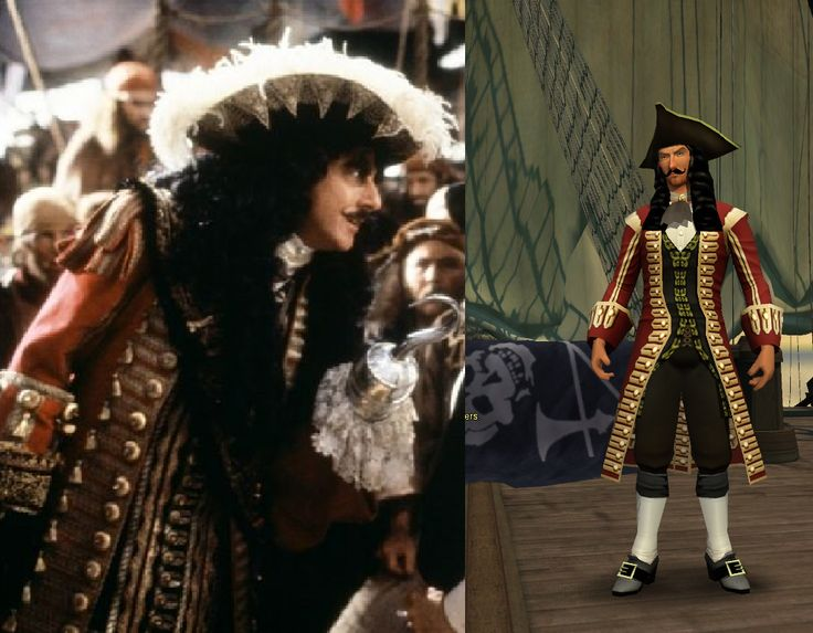 Dustin Hoffman Captain Hook  as a Pirates of the Burning Sea Avatar