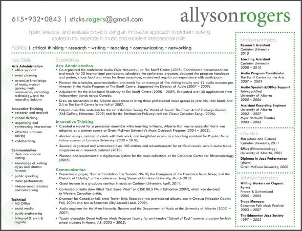 17 Best Images About Resume Patterns On Pinterest