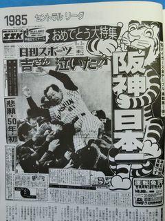 【1980年代一面コレ・番外編・10】阪神ファンの皆様、お待たせしました!・・・1985年の日本一の一面、日刊スポーツでご覧下さい!: あらやまの「1980年代」スポーツ新聞コレクション