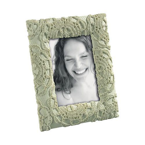 PORTAFOTO O1245 - cornice portafoto in resina con decorazioni in rilievo effetto pizzo - vanessa chioccini design - resin photo frame #mascagni #mascagnicasa