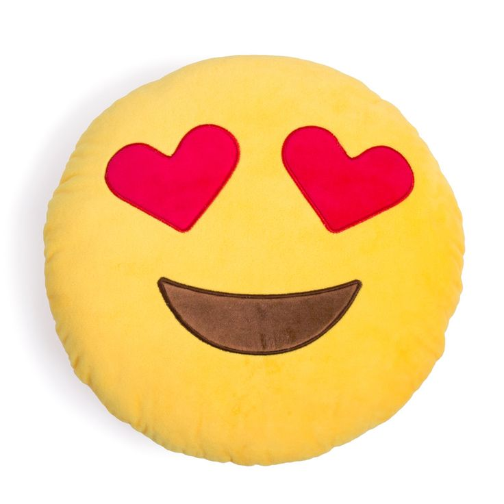 Heart Eyes Emoji Pillow – Shelfies - Outrageous Clothing