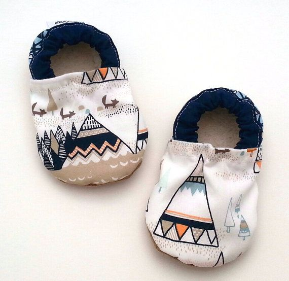 teepee baby shoes teepee booties soft sole shoes by ScooterBooties