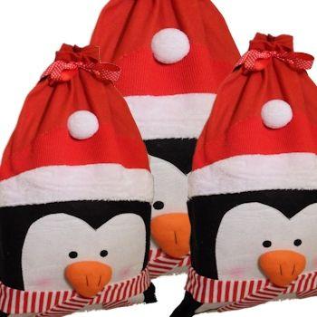 Christmas Santa Sack Penguin