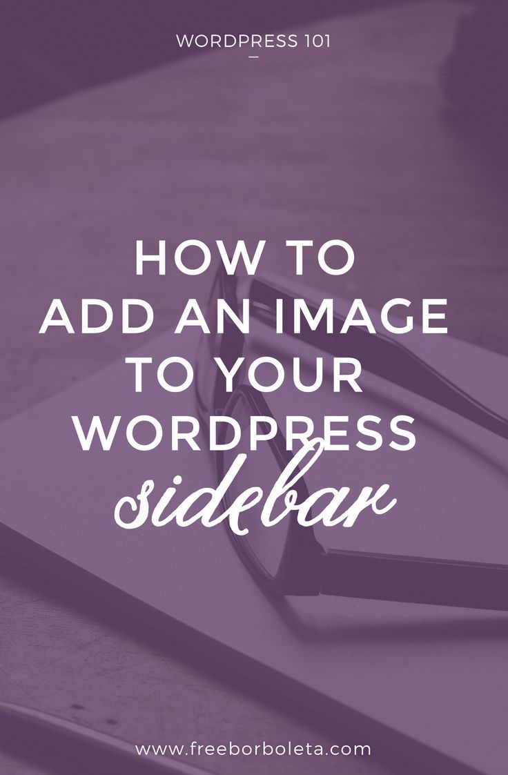 How to add image to WordPress Sidebar << Free Borborleta