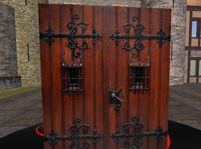Double Castle Door Medieval Door Medieval Castle Door