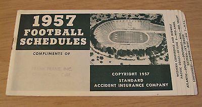 1957 FOOTBALL SCHEDULES~College/NFL~Stanford Stadium~BOWL GAMES~