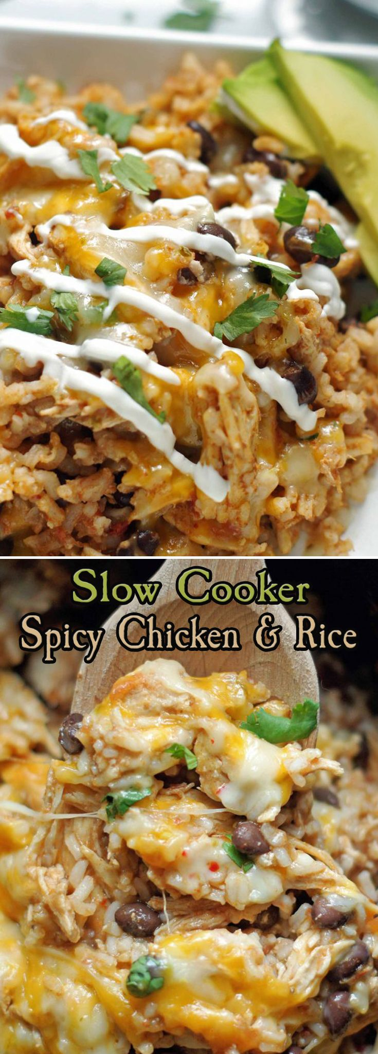 Slow Cooker Spicy Chicken Mexican crock pot black beans