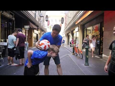 Freestyling around Melbourne for the AFC Asian Cup Australia 2015 - YouTube