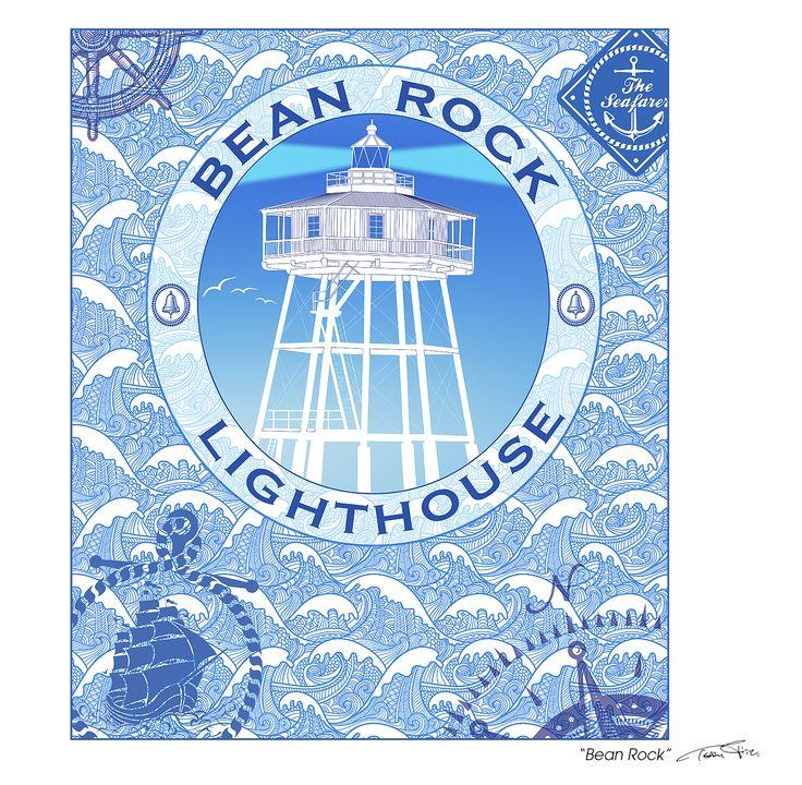 """Bean Rock"" Hauraki Gulf, Auckland, N.Z. Digital art-print by Terry Fitz., 2015."