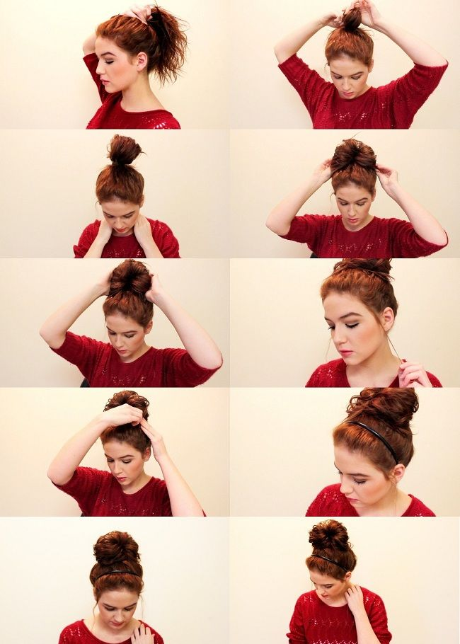 I need this because i still can't figure out how to do a bun : Quick and Easy Messy Bun