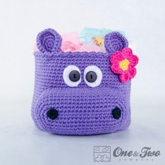Hippo Basket - Patrón de ganchillo