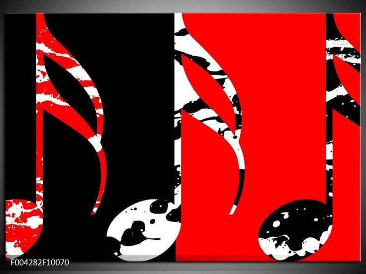 Foto canvas schilderij muziek kleur rood zwart wit f004282 zwart rood wit pinterest - Kleur schilderij slaapkamer volwassen foto ...