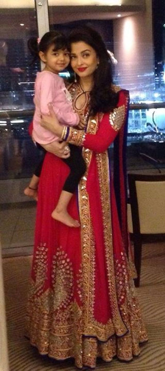 Aishwarya Rai Bachchan and birthday girl Aaradhya were in Dubai