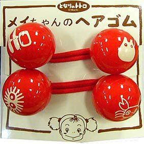 4 left - 2 Hair Rubber Band - Sho Totoro & Kurosuke & Crab- made in Japan - out of production (new)