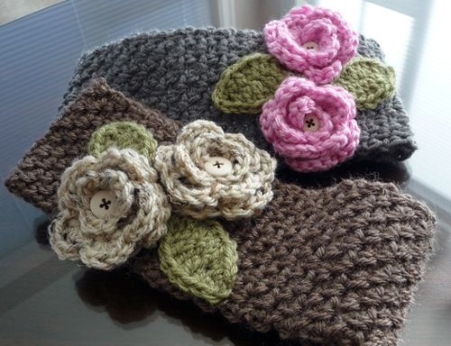 Crochet Wide Headband With Flower Free Pattern : 25+ best ideas about Headband Pattern on Pinterest ...