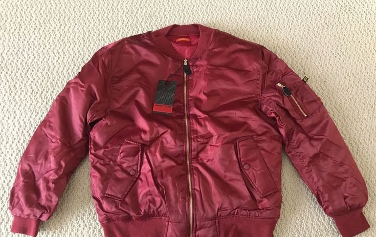 NWT Men's Swiss Cross Maroon Red Reversible Bomber Flight Zip Jacket ALL SIZES