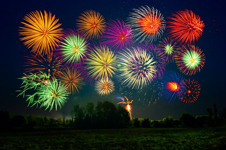 Canada Day - A local fireworks display in Ontario, celebrating Canada Day on July 1st ...