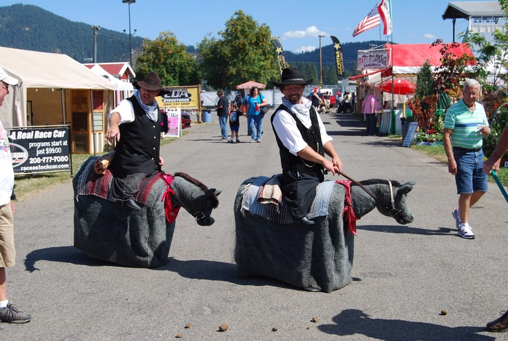 """These two """"horses"""" walk all over the Kootenai County Fairgrounds. They are hilarious."""