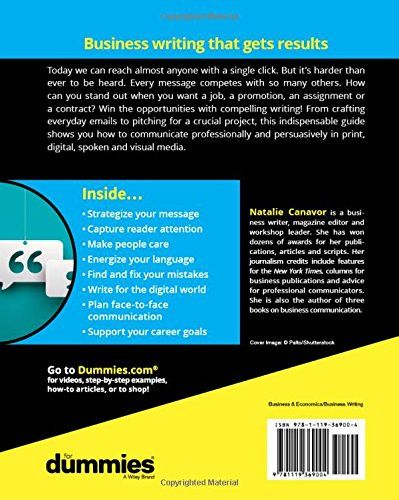 Business Writing For Dummies (For Dummies (Lifestyle)) - digital editor job description