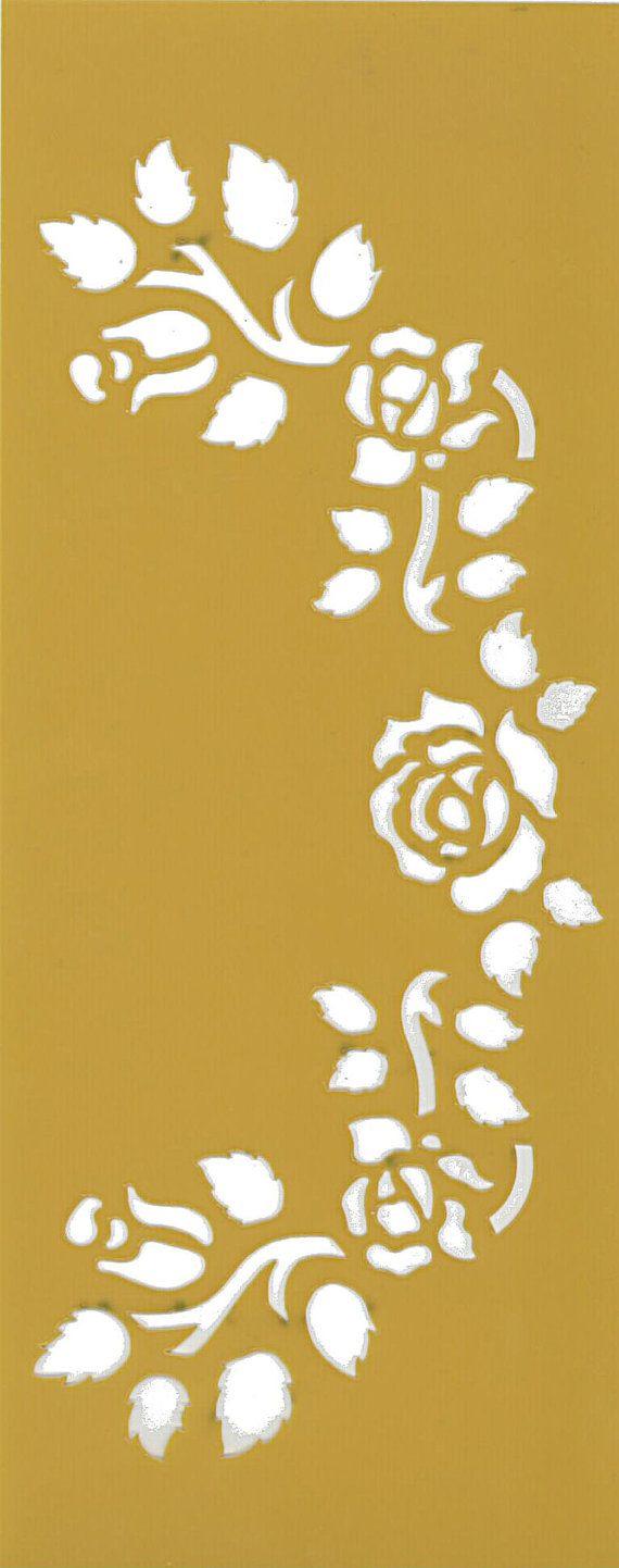 Stencil flexible template, flower series, roses