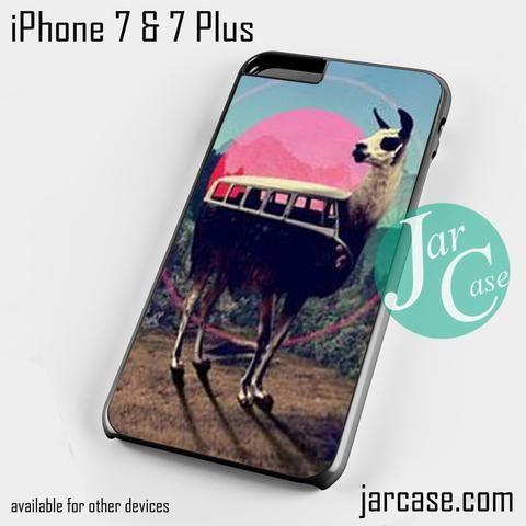 llama retro bus Phone case for iPhone 7 and 7 Plus