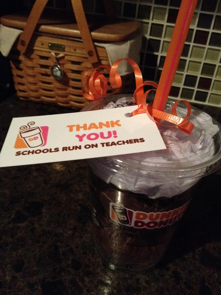 Cute way to give dunkin donuts gift card gift card