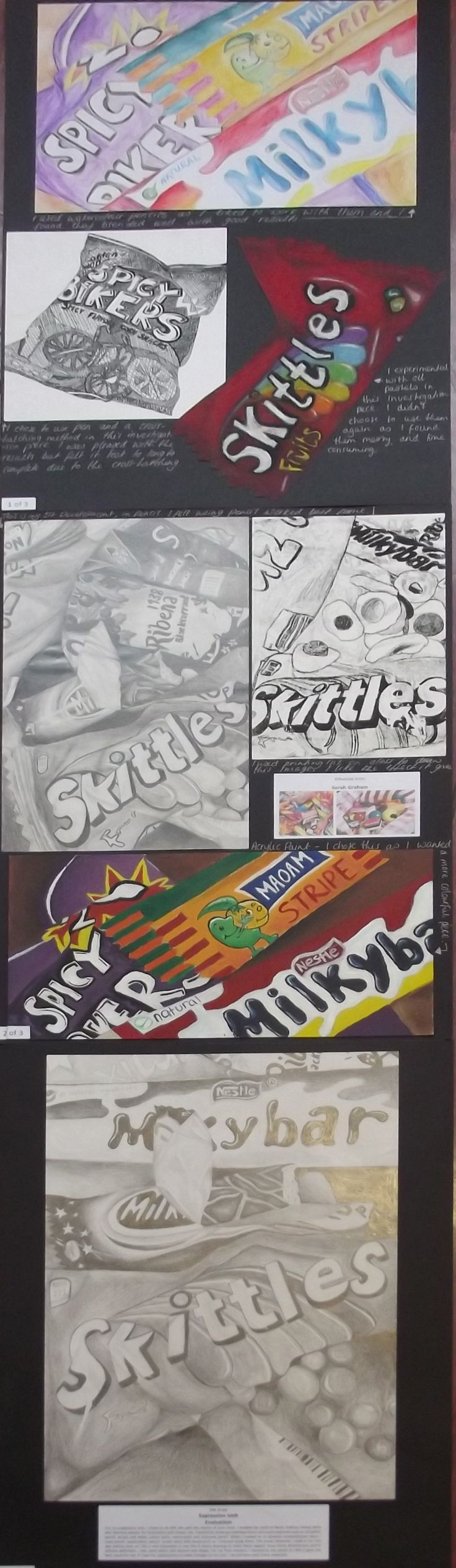 s4 national 5 expressive folio, still life - junk food theme