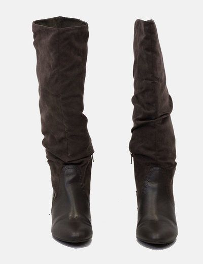 Botas altas marrones Zara