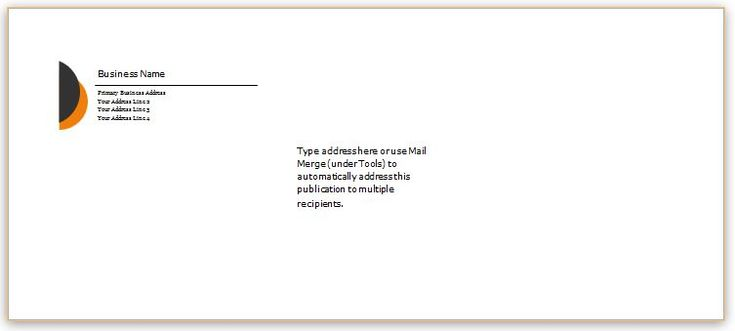 Envelope Template Design for MS Word DOWNLOAD at    www - a2 envelope template