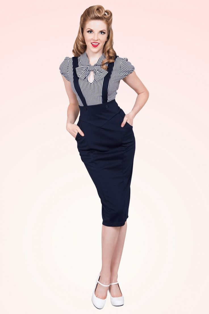 Bettie Page Clothing - Charlie Jumper in Navy