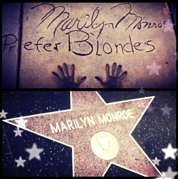 Hollywood Boulevard, LA, California, USA - May 2013. My name will be right beside hers one day