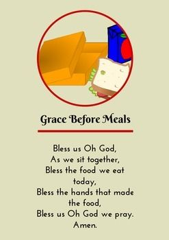 Grace Before Meals Prayer Poster :)